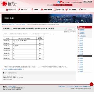 共通基準による都道府県の観光入込客統計2015年3月末現在の取りまとめ状況