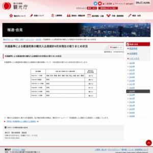 共通基準による都道府県の観光入込客統計2015年9月末現在の取りまとめ状況