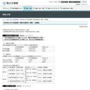 年末年始における高速道路・国道の交通状況(速報)【全国版】