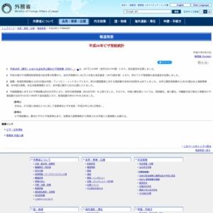 平成26年ビザ発給統計