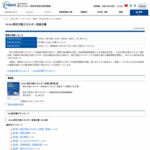 NEDO再生可能エネルギー技術白書