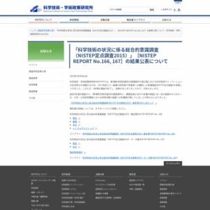 NISTEP定点調査2015報告書