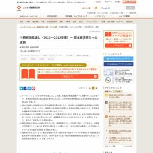 中期経済見通し(2013~2023年度)~ 日本経済再生への道筋