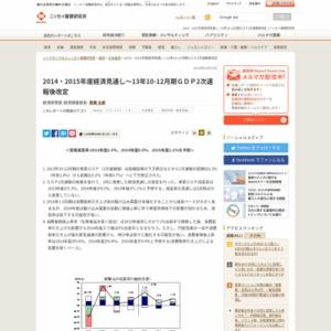 2014・2015年度経済見通し~13年10-12月期GDP2次速報後改定