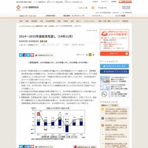 2014~2016年度経済見通し(14年11月)