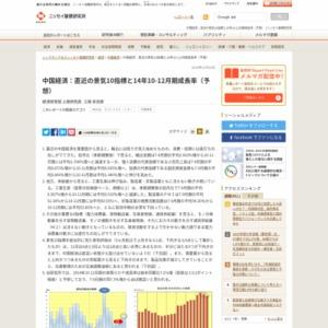 中国経済:直近の景気10指標と14年10-12月期成長率(予想)