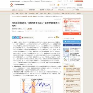 米利上げ局面のユーロ相場を振り返る~金融市場の動き(5月号)
