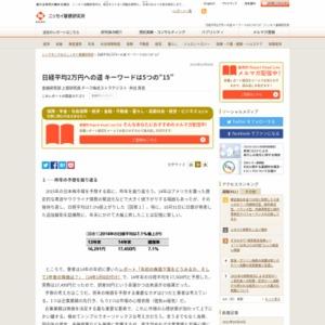 """日経平均2万円への道 キーワードは5つの""""15"""""""