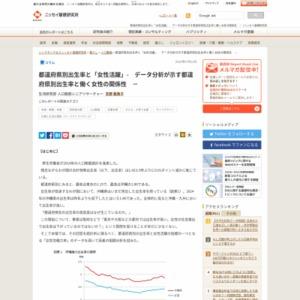 都道府県別出生率と「女性活躍」- データ分析が示す都道府県別出生率と働く女性の関係性 -