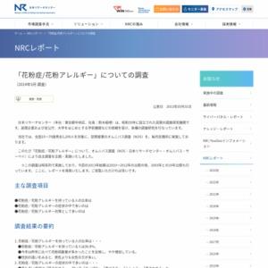 「花粉症/花粉アレルギー」についての調査(2013年3月調査)