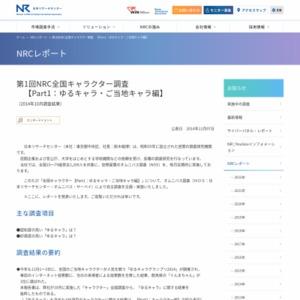 NRC全国キャラクター調査【Part1:ゆるキャラ・ご当地キャラ編】