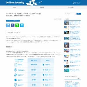 インターネット詐欺リポート(2015年7月度)