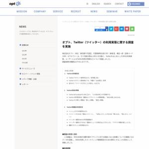 Twitter(ツイッター)の利用実態に関する調査