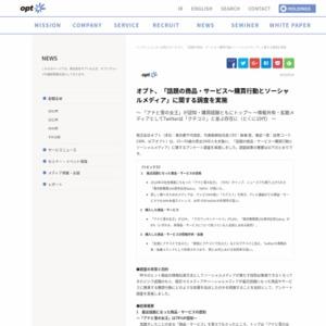 「話題の商品・サービス~購買行動とソーシャルメディア」に関する調査