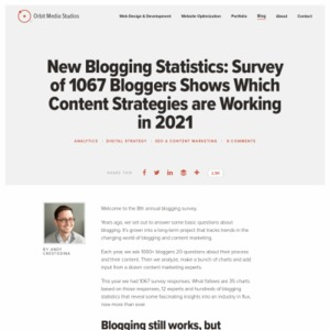 Survey of 1000+ Bloggers: How to Be in the Top 5%