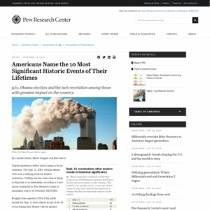 Americans Name the 10 Most Significant Historic Events of Their Lifetimes