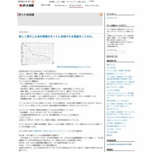 新しく発行した本の情報がネットに反映される調査