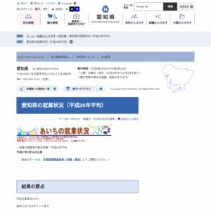 愛知県の就業状況(平成26年平均)