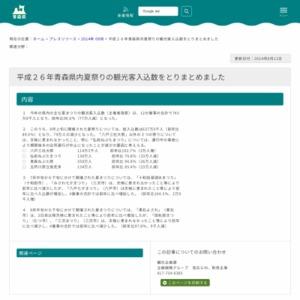平成26年青森県内夏祭りの観光客入込数