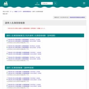 選挙人名簿登録者数