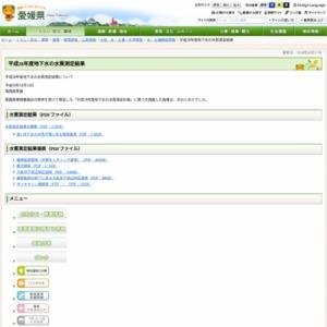 平成28年度地下水の水質測定結果(愛媛県)