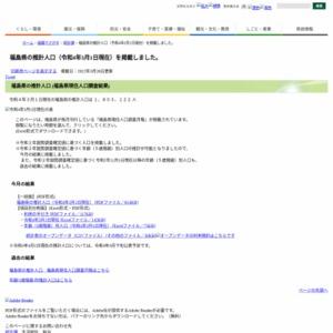 福島県の推計人口(平成27年3月1日現在)