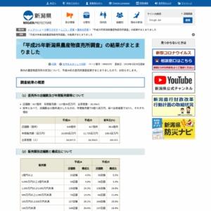 2013年新潟県農産物直売所調査
