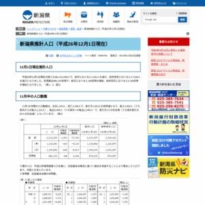 新潟県推計人口(平成26年12月1日現在)