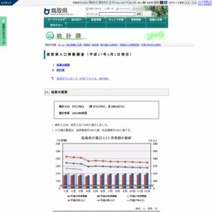 鳥取県人口移動調査結果速報(平成27年3月1日現在)