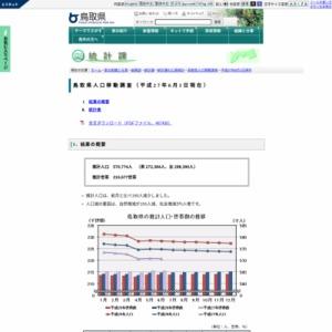 鳥取県人口移動調査結果速報(平成27年6月1日現在)
