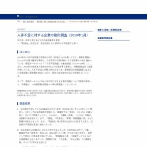 人手不足に対する企業の動向調査(2019年1月)