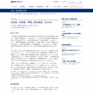 秋田県「休廃業・解散」動向調査(2014年)