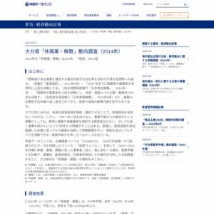 大分県「休廃業・解散」動向調査(2014年)