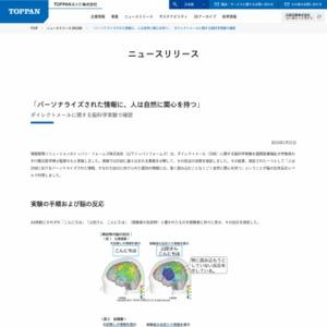 「パーソナライズされた情報に、人は自然に関心を持つ」ダイレクトメールに関する脳科学実験で確認