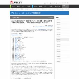 2015年8月の海外ツアー検索人気ランキング