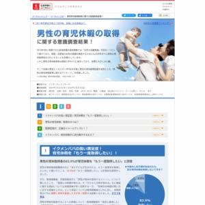 男性の育児休暇取得に関する意識調査