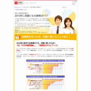 2015年のトレンド予測と資格取得に関する意識調査