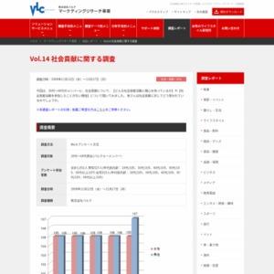 VOL.14 社会貢献に関する調査(2008/11)