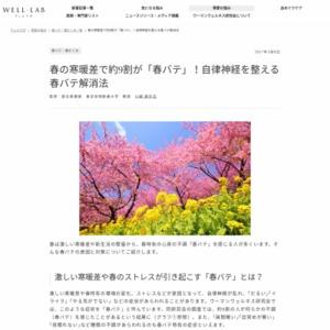 """春の不調""""春バテ""""に関する意識調査"""