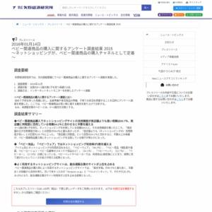 ベビー関連商品の購入に関するアンケート調査結果 2015