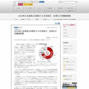 2015年に生産高100億米ドルを目指す、台湾の工作機械産業