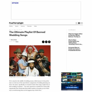 The Ultimate Playlist Of Banned Wedding Songs