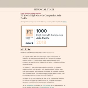 FT 1000: High-Growth Companies Asia-Pacific