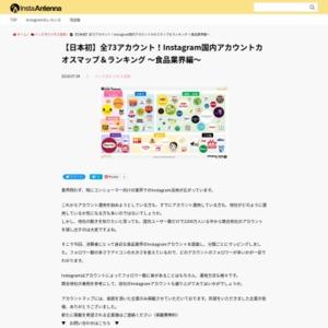 全73アカウント!Instagram国内アカウントカオスマップ&ランキング ~食品業界編~