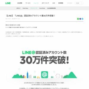 LINE 認証済みアカウント30万件突破記念インフォグラフィック