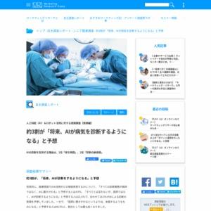 人工知能(AI)&ロボット活用に対する意識調査【医療編】