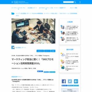 SNSプロモーション活用実態調査2016