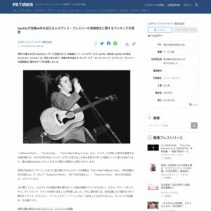 エルヴィス・プレスリーの音楽再生に関するランキング