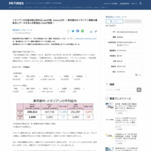 東京都内のイタリアン業態の最新求人データ