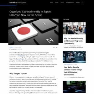 ORGANIZED CYBERCRIME BIG IN JAPAN: URLZONE NOW ON THE SCENE